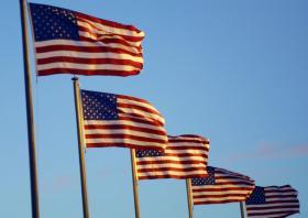 USA-flaggor. Foto: Colourbox