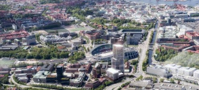 Illustration av blivande Göteborg City Gate. Illustration: Skanska
