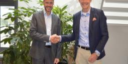 Kenneth Karlsson, vd på REC Indovent (tv) och Per Stenholtz, vd på Pegol. Foto: Ernströmgruppen